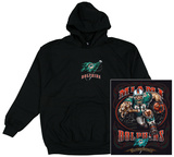 Hoodie: NFL: Miami Dolphins- Running Back (Front/Back) Zip Hoodie