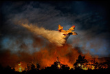 Wall of Fire Photographic Print by Antonio Grambone