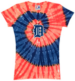 Ladies: MLB-Tigers Spiral V-Neck T-shirts