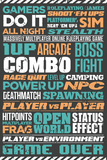 Gaming Typographic Posters