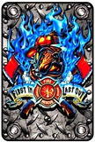 Fire Bulldog Tin Sign