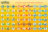 Pokemon Partner Pokemon Posters