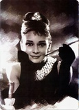 Audrey Hepburn Portrait Tin Sign