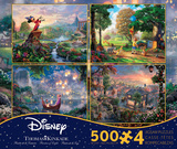 Thomas Kinkade Disney Dreams Collection 4 in 1 500 Piece Puzzle, Series 2 Jigsaw Puzzle