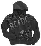 AC/DC-Night Prowler Zip Hoodie Kapuzenjacke mit Reißverschluss