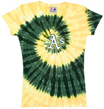 Ladies: MLB-Athletics Spiral V-Neck T-Shirt
