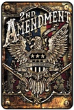 2nd Amendment Eagle Tin Sign