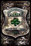 Irish Police Tin Sign