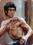 Bruce Lee Portrait Tin Sign