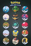 Pokemon- Pokeballs Affiches