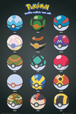 Pokemon- Pokeballs Plakater