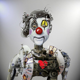Electronic Clown Photographic Print by  Ddiarte
