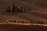 Castle and Camels Photographic Print by Mei Xu