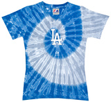 Ladies: MLB-Dodgers Spiral V-Neck T-shirts