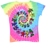 Ladies: Grateful Dead-Spiral Bears Tshirts