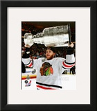 Patrick Kane with the Stanley Cup Game 6 of the 2013 Stanley Cup Finals Framed Photographic Print