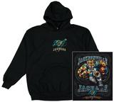 Hoodie: NFL: Jacksonville Jaguars Running Back (Front/Back) Mikina na zip s kapucí