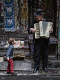 The Busker and the Boy Photographic Print by Vince Russell