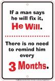 Man Will Fix Tin Sign