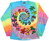 Grateful Dead-Spiral Bears Long Sleeve T-shirt a maniche lunghe