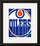 Edmonton Oilers 2011 Team Logo Framed Photographic Print