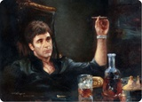 Scarface Portrait Tin Sign