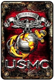 Marines USMC Tin Sign