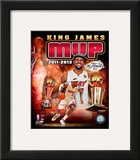 LeBron James 2012 NBA MVP Portrait Plus Framed Photographic Print