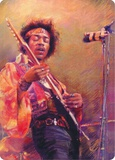 Hendrix Portrait Tin Sign