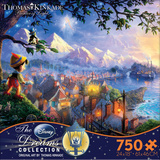 Thomas Kinkaid Disney Dreams - Pinocchio 750 Piece Jigsaw Puzzle Jigsaw Puzzle