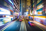 Hong Kong Motion Blur Photographic Print by  SeanPavonePhoto