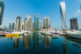 Tall Dubai Marina Skyscrapers in UAE Photographic Print by  Elnur