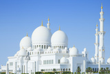 Beautiful Sheikh Zayed Mosque in Abu Dhabi City, UAE Photographic Print by  okinawakasawa