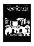 The New Yorker Cover - January 17, 2005 Premium Giclee Print by Saul Steinberg