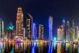 Dubai Marina Cityscape, UAE Fotografisk tryk af Sergii Figurnyi