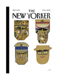 The New Yorker Cover - November 1, 2004 Premium Giclee Print by Saul Steinberg