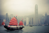 Chinese Style Sailboat in Hong Kong Photographic Print by  chungking
