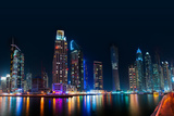 Dubai Skyline by Night Photographic Print by  loya_ya
