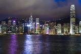 Hong Kong Island by Night Fotografisk tryk af  lapas77