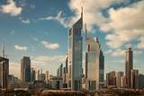 Skyscrapers of Dubai Skyline Photographic Print by  Borna_Mir