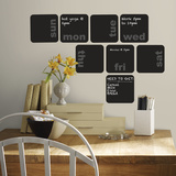 Days of the Week Planner Chalkboard Peel and Stick Wall Decals Decalques de parede