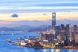 Hong Kong Skyline at Night Photographic Print by  pigprox