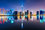 Dubai Skyline at Dusk, Uae. Photographic Print by  MasterLu