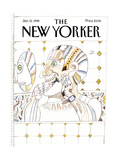 The New Yorker Cover - January 12, 1998 Regular Giclee Print by Saul Steinberg