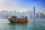 Hong Kong City Skyline View from Kowloon Photographic Print by  Noppasinw