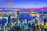 Hong Kong City Skyline during Sunrise Photographic Print by  leungchopan