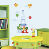 Animals in Paris Peel and Stick Giant Wall Decals Wall Decal