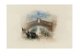 Rogers's Poems 1835 Watercolours, Venice (The Rialto - Moonlight) Giclee Print by Joseph Mallord William Turner
