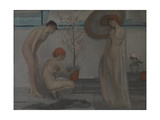 Three Figures: Pink and Grey Giclee Print by James Abbott McNeill Whistler