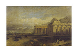 The Temples of Paestum Giclee Print by William Linton